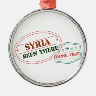 Syria Been There Done That Silver-Colored Round Ornament