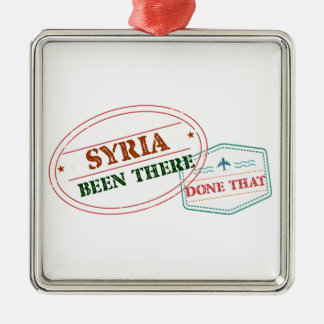 Syria Been There Done That Silver-Colored Square Ornament