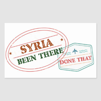 Syria Been There Done That Sticker