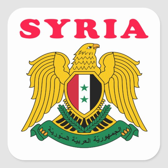 Syria Coat Of Arms Designs Square Sticker
