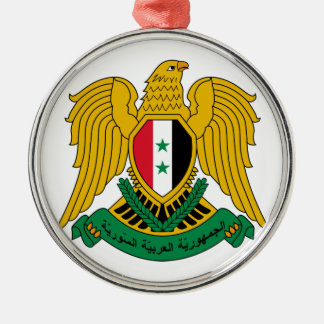 Syria Coat of Arms Silver-Colored Round Ornament