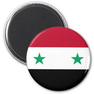 Syria flag 2 inch round magnet