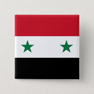 Syria Flag 2 Inch Square Button