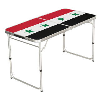 Syria Flag Beer Pong Table