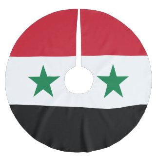 Syria Flag Brushed Polyester Tree Skirt