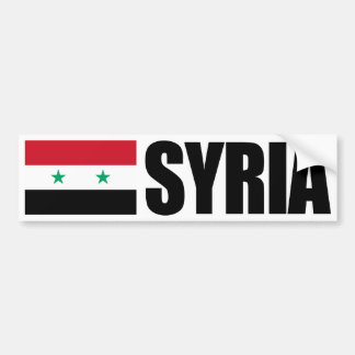 Syria Flag Bumper Sticker