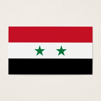 Syria Flag Business Card