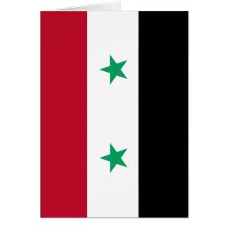 Syria flag card