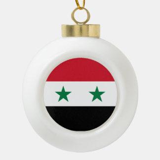 Syria Flag Ceramic Ball Ornament