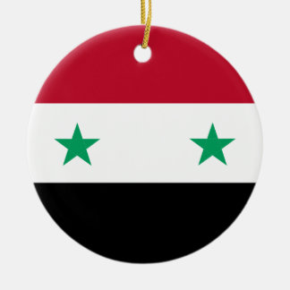 Syria flag ceramic ornament