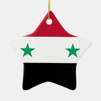 Syria flag ceramic star ornament