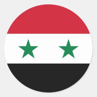 Syria Flag Classic Round Sticker