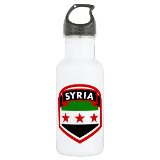 Syria Flag Crest Shield 532 Ml Water Bottle