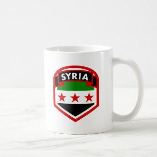 Syria Flag Crest Shield Coffee Mug