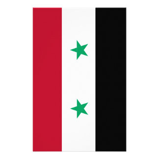 Syria flag custom stationery