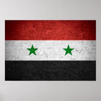 Syria Flag (Grunge) Poster