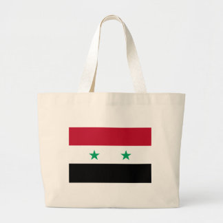 Syria flag large tote bag