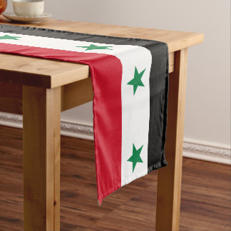 Syria Flag Long Table Runner
