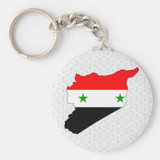 Syria Flag Map full size Keychain