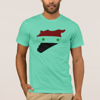 Syria flag map T-Shirt