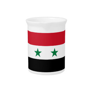 Syria Flag Pitcher