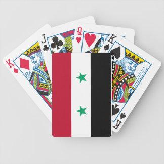 Syria flag poker deck