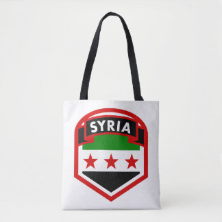 Syria Flag Shield Tote Bag