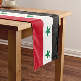 Syria Flag Short Table Runner