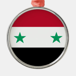 Syria flag Silver-Colored round ornament