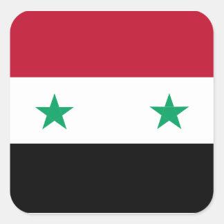 Syria flag square sticker