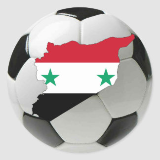 Syria football soccer classic round sticker