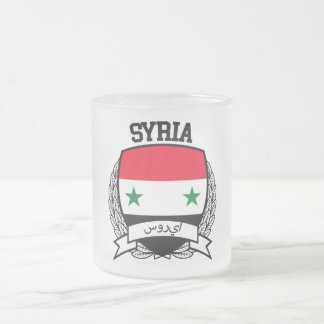 Syria Frosted Glass Coffee Mug