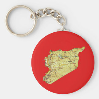 Syria Map Keychain
