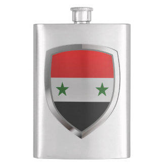 Syria Metallic Emblem Hip Flask