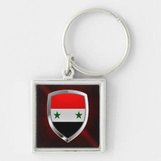 Syria Metallic Emblem Keychain