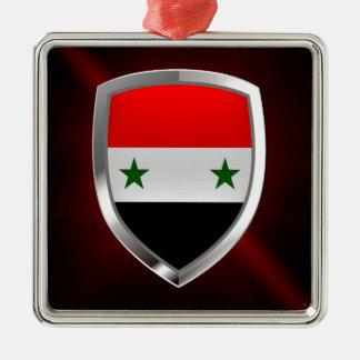 Syria Metallic Emblem Metal Ornament