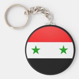 Syria quality Flag Circle Keychain