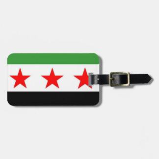 Syria Republic Flag Luggage Tag