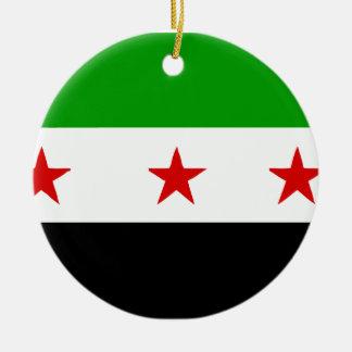 syria round ceramic ornament