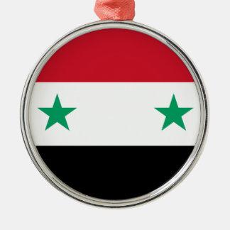 Syria Silver-Colored Round Ornament