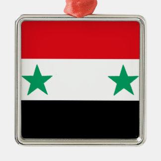 Syria Silver-Colored Square Ornament