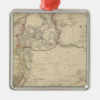 Syria to Sinai Silver-Colored Square Ornament