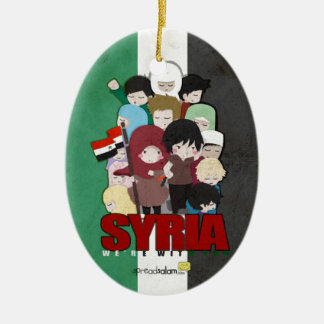 SYRIA - We're With You Ceramic Oval Ornament