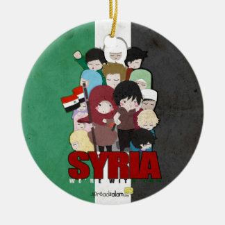SYRIA - We're With You Round Ceramic Ornament