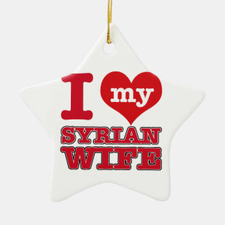 Syria wife ceramic star ornament