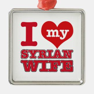 Syria wife Silver-Colored square ornament