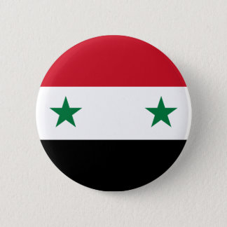 Syrian Arab Republic Flag - Flag of Syria 2 Inch Round Button