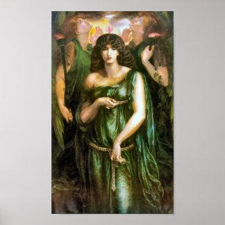 Syrian Astarte 1877 Pre Raphaelite Art Poster