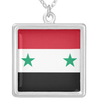 Syrian Flag Silver Plated Necklace