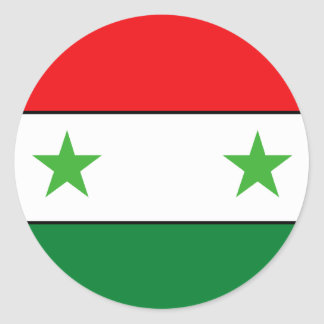 Syrian Flag T-shirts and Gifts Round Sticker